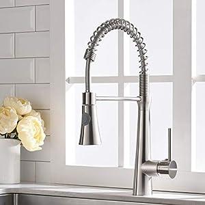 Timaco Cuisines de robinet avec ressort en spirale, raccords d'évier pivotants à 360 °, robinetterie de cuisine et…