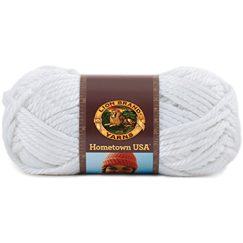 Lion Brand Yarn 135-100R Hometown USA Yarn, New York White