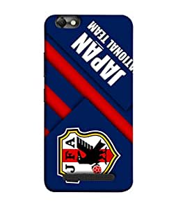ColorKing Football Japan 02 Blue shell case cover for Lenovo Vibe C