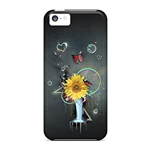 linJUN FENGipod touch 5 Case Cover - Slim Fit Tpu Protector Shock Absorbent Case (flower Wallpaper)