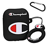 Mulafnxal for Airpods 1&2 Case,Cute 3D Funny Luxury Soft Silicone Airpod Cover,Stylish Fun Cool Design Skin,Fashion Designer Cases for Boys Kids Teens Men Air pods(Black Champin)