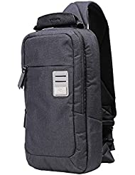 dpark new group series Water-resistant Canvas& PU Sling Chest Shoulder Bag Pack Small Crossbody Backpacks Portable...
