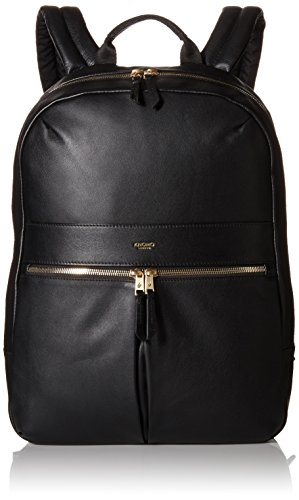 Knomo Luggage Mayfair Leather Beaux Backpack 14-Inch, Black, One Size by Knomo