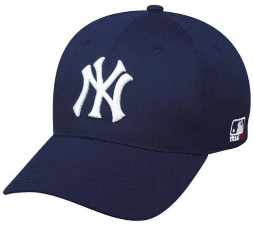 MLB Replica Adult New York YANKEES Home Cap Adjustable Velcro (Replica Baseball Shirts)