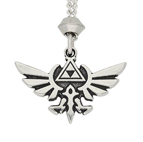 Handmade Zelda Hylian Crest Pewter Chain Pendant (with 22 inch Chain)