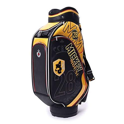 ブランデーボクシング奇妙なディズニー (DN-0B1018CB) メンズ ゴルフ キャディバッグ Disney ブラックXイエロー 9
