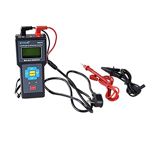 Digital meter- 0.00mA-500mA Digital Leakage Current Meter with Leakage Protector Tester ETCR8600, Amp Ohm Volt Meter: DIY & Tools