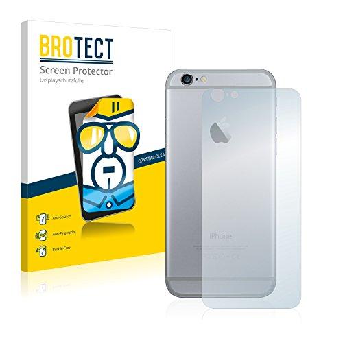 2x BROTECT HD-Clear Pellicola Protettiva Apple iPhone 6 Posteriore (intera superficie) Schermo Protezione – Trasparente, Anti-Impronte