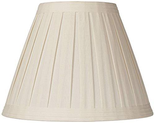 (Creme Linen Box Pleat Lamp Shade 7x14x11 (Spider) - Springcrest)