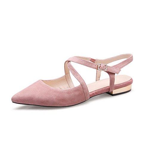 spitzen Pink aushöhlen DIU00591 AN Zehen Ledersandalen Damen Bandage wn7xqqtaz