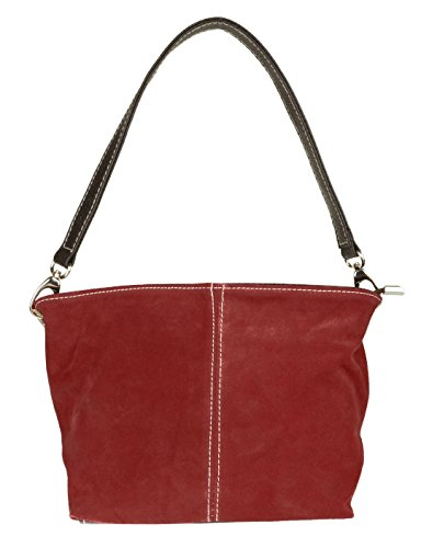 Suede London Bag Leather Craze Tote Genuine Burgundy Womens Handbag New Shoulder A4qwwxIOf