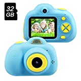 OMWay Toys for Boys 3-12 Year Old, Kids Digital Camera for Kids Girls,Best Birthday Gift for Kids Age 4-10,8MP HD Video Camcorders,Blue(32GB SD Card Included).