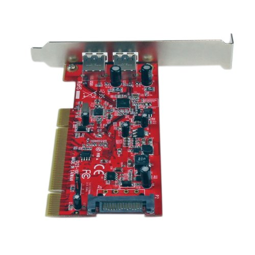StarTech.com 2 Port PCI SuperSpeed USB 3.0 Adapter Card with SATA Power PCIUSB3S22, Red by StarTech (Image #3)