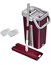 Flat Mop 360 degree and 2 mop cloth - Purple