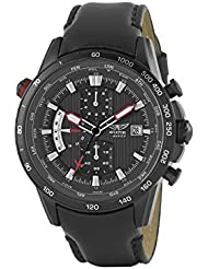 Aviator Mens AVW2020G275 Chronograph Stainless Steel Watch With Brown Leather Strap 100m WR