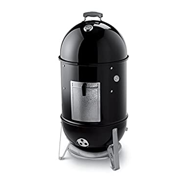 Weber 721001 Smokey Mountain Cooker 18-Inch Charcoal Smoker, Black