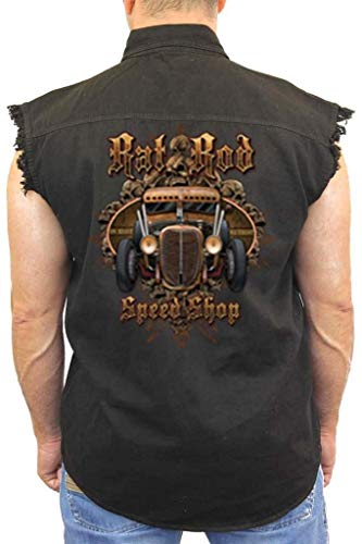 SHORE TRENDZ Men's Sleeveless Denim Shirt Rad Rod Speed for sale  Delivered anywhere in Canada