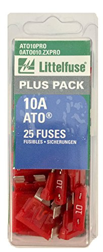 Littelfuse ATO10PRO ATO BP PRO Fast-Acting Automotive Blade Fuse - 25 Piece (80 Piece Fuse)