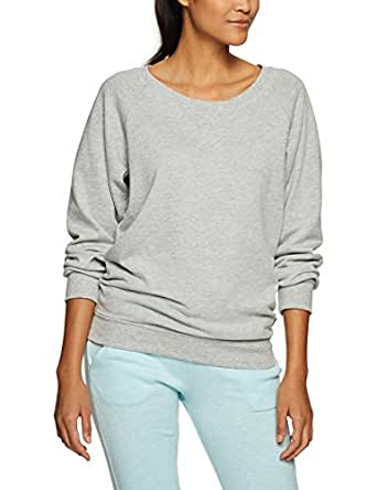 Bonds Women's Clothing Cotton Blend Sloppy Joe Pullover, New Grey Marle, XS