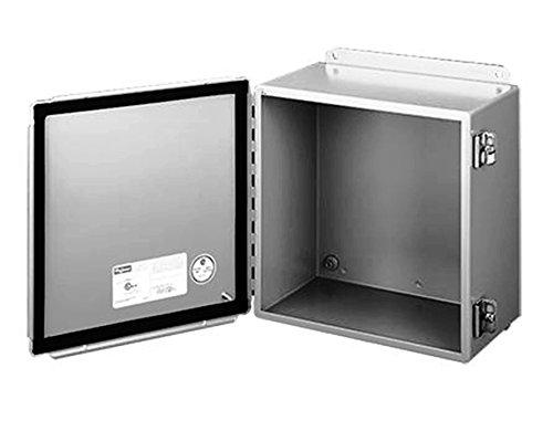 Hoffman A1210CH J Box, NEMA 12, Hinged Cover, Steel, 12.00