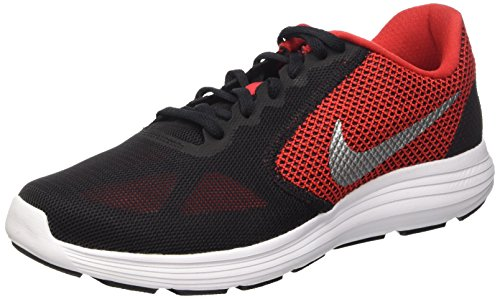 Men's Nike Revolution 3 Running Shoe University Red/Black/White/Metallic Silver Size 15 M US