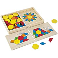 Melissa & Doug Pattern Blocks and Boards Classic Toy,...