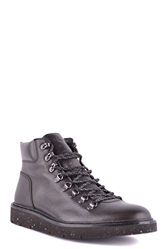 Hogan Hi Top Sneakers Uomo Mcbi148511o Pelle Nero