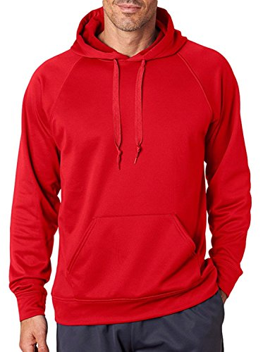 Jerzees Sport Tech Fleece Adult Pullover Hood (True Red) (3X)