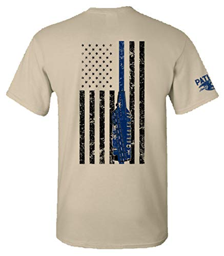 Patriot Apparel Thin Line US Navy Naval Carrier T-Shirt Tee (Large, ACU Tan)