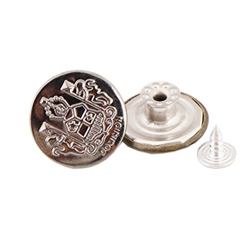 George Jimmy 10 Pcs 20mm Vintage Buttons Replacement Tack Button for Jean Jacket Suspenders, 7# ()