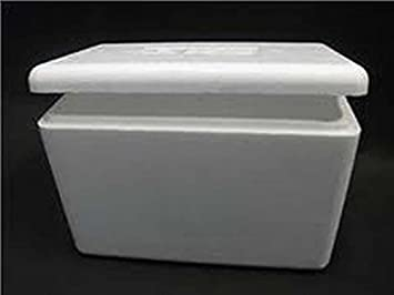 40 Litre Polystyrene Box Within A Cardboard Box. Cool Box - Fish Box - Waterproof & 40 Litre Polystyrene Box Within A Cardboard Box. Cool Box - Fish Box ...
