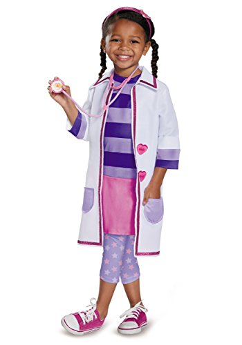 Halloween Costumes Doc Mcstuffins (Doc Toy Hospital Deluxe Doc Mcstuffins Disney Junior Costume, Medium/3T-4T)