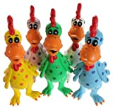 MultiPet Latex Chicken Globken Dog toy Assorted Size:Pack of 2