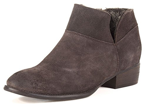 Seychelles Dark Cozy Womens Fur Boot Snare Suede Brown FTqFZrn