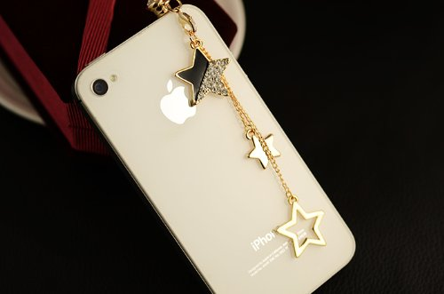 CJB Dust Plug / Earphone Jack Accessory Stars Tassel for iPhone 4 4S S4 5 All Device with 3.5mm Jack