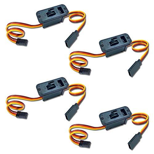 JR,MPX,Futaba Empfängerschalter Stromversorgungskabel mit Ladebuchse Schalter