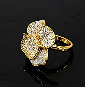 Exaggerated Big Flower Personality Fashion Girls Ring