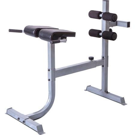 Deluxe Roman Chair/Hyperextension Bench, Gray, Multicolor by CAP Strength