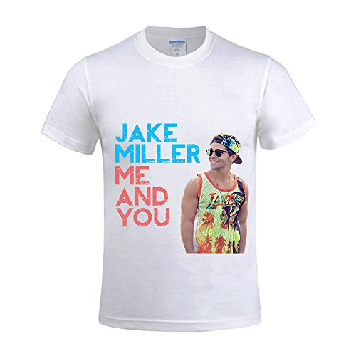 Jake Miller Me And You Men T Shirts Crew Neck Design White -