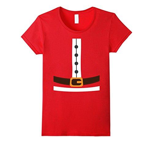 Cheap Ladies Santa Costumes (Womens Santa Costume Shirt - Santa Outfit - Santa T-Shirt Large Red)