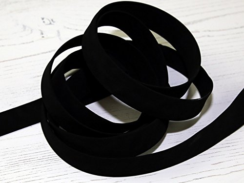 20mm Faux Suede Leather Bias Binding Tape Black - per metre Minerva Crafts
