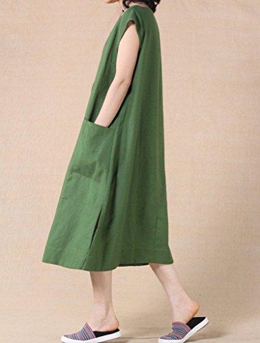 Vogstyle - Vestido - vestido - para mujer verde Talla única