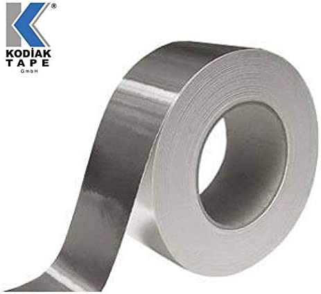2 Rollen Aluminiumband Aluminium Aluband Klebeband Aluminiumklebeb/änder selbstklebend Dichtband isolierband 48mm x 30m 0,166 EUR//m