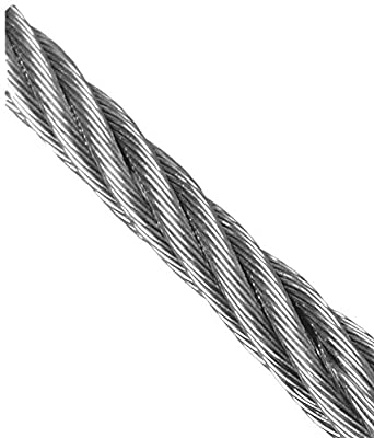 Loos Stainless Steel 18-8 Wire Rope, 7x7 Strand Core: Cable And ...