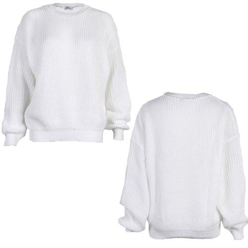 Jersey grueso para mujer (9L) blanco