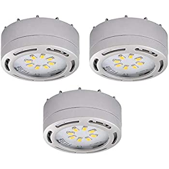LEDP3120WH - 120V Direct LED Puck 3 Light Kit-White