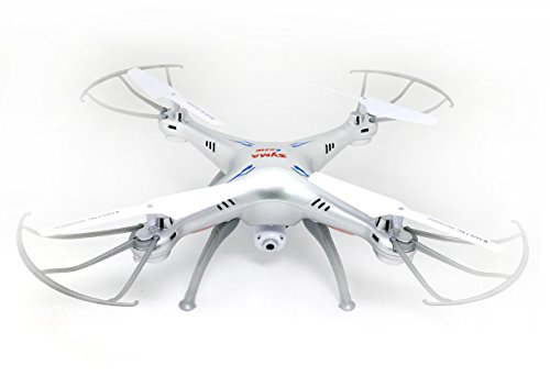 Syma-X5SW-1-X5SW-FPV-HD-Camera-Drone-with-Real-Time-Transmission-in-Exclusive-Grey-Silver-design-with-extra-battery-X5SW