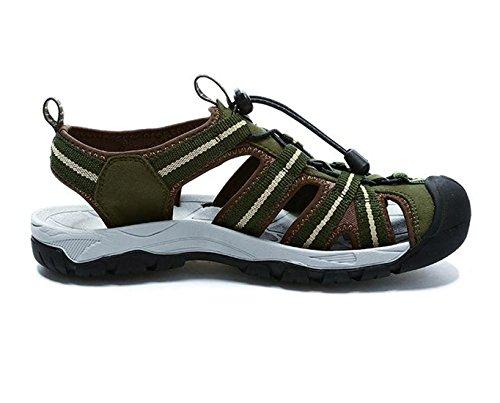 Cammello Mens Bumn Sandali Punta Chiusa Colore Verde Taglia 43 M Eu