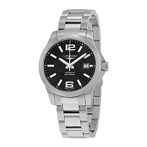 Longines Conquest Black Dial Stainless Steel Automatic Mens Watch L3.776.4.58.6 - Longines Stainless Steel Wrist Watch