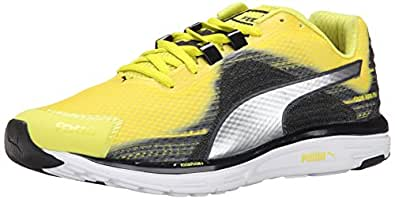 PUMA Men's Faas 500 V4 Running Shoe, Sulphur Spring/Silver Metallic/Black, 7 M US